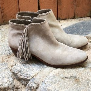 Sam Edelman Putty Paige Fringed Booties